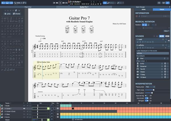 Logiciels - Guitar pro - Apprendre la guitare